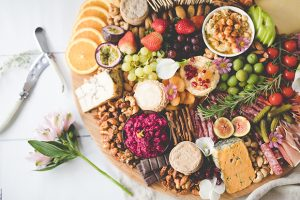 cheese meat grazing table wedding buffet